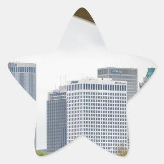 tulsa oklahoma skyline star sticker