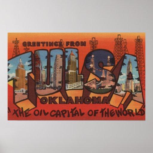 Tulsa, OklahomaLarge Letter ScenesTulsa, OK Print