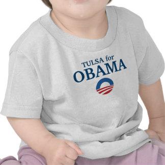TULSA para el personalizado de Obama su ciudad Camisetas