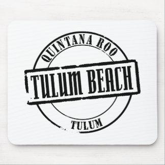 Tulum Beach Title Mouse Pad