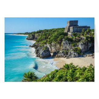 Tulum Mayan Ruins Card