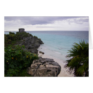 Tulum Mayan Ruins Mexico Cozumel Greeting Cards