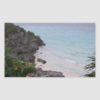 Tulum Mayan Ruins Mexico Cozumel Rectangular Sticker
