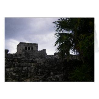 Tulum Mayan ruins Mexico Yucatan ruin Card