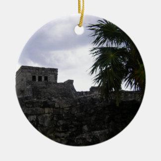 Tulum Mayan ruins Mexico Yucatan ruin Ceramic Ornament