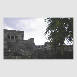 Tulum Mayan ruins Mexico Yucatan ruin Rectangular Sticker