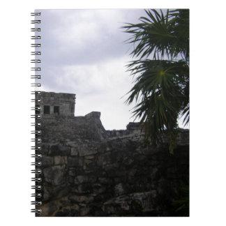 Tulum Mayan ruins Mexico Yucatan ruin Spiral Notebook