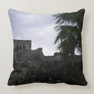 Tulum Mayan ruins Mexico Yucatan ruin Throw Pillow