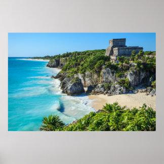 Tulum Mayan Ruins Poster