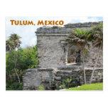 Tulum Mayan Ruins Quintana Roo Mexico Postcard