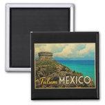 Tulum Mexico 2 Inch Square Magnet