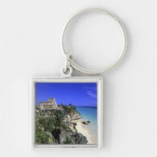 Tulum, Mexico Silver-Colored Square Keychain