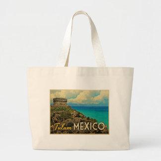 Tulum Mexico Large Tote Bag