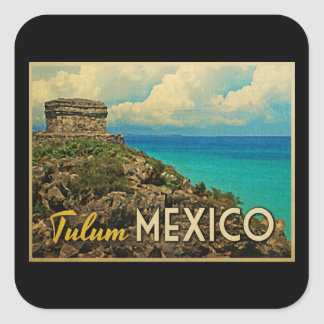 Tulum México Calcomania Cuadradas Personalizadas