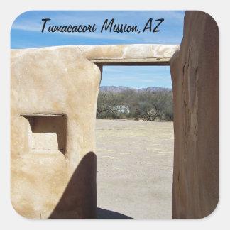 Tumacacori Doorway Square Sticker