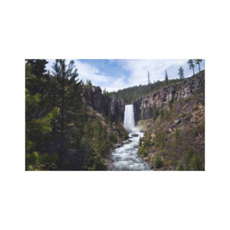 Tumalo Falls and River Canvas Wrap