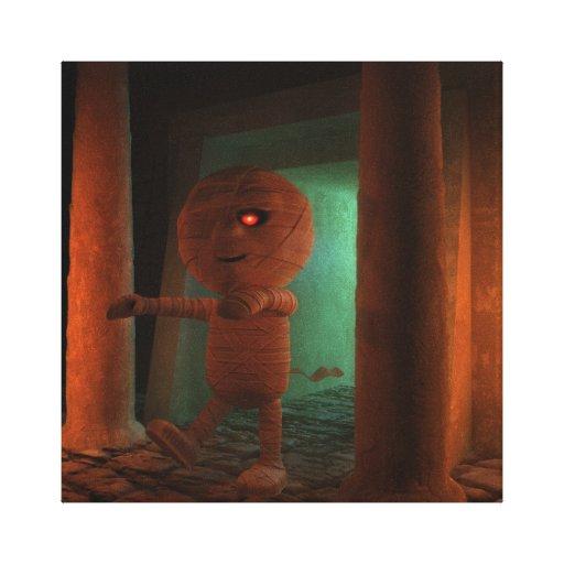 tumba de 3d Mummys Impresión De Lienzo