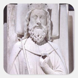 Tumba de Clovis I, rey de las cartas francas Pegatina Cuadrada