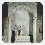 Tumba de la emperatriz Josephine 1825 Pegatina Cuadrada