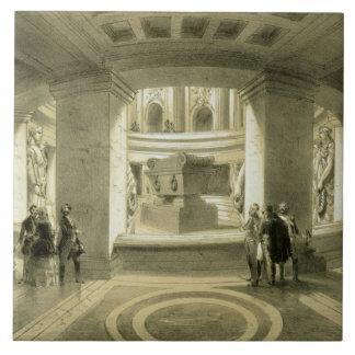Tumba de Napoleon (1769-1821) en Invalides, de 'P Azulejo Cuadrado Grande