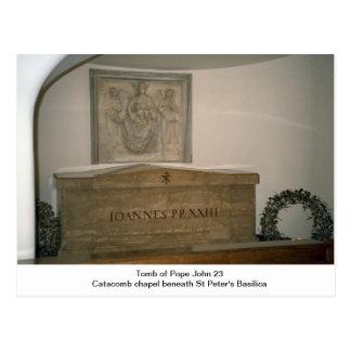 Tumba de papa Juan 23ro Postal