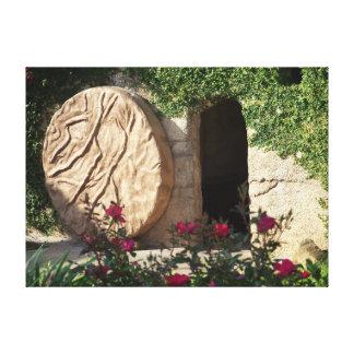 Tumba de Pascua de la lona envuelta salvador subid Impresion De Lienzo