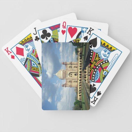 Tumba de Sardar Jang, de Nawab de Oudh y de miniat Baraja Cartas De Poker