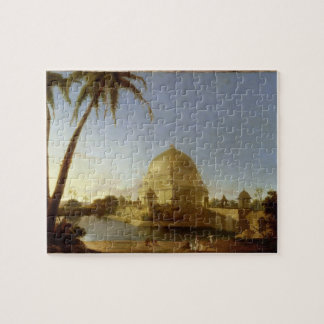 Tumba de Sher Shah Sasaram Bihar c 1790 aceite Puzzles