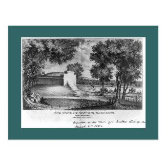 Tumba de William Henry Harrison, curva del norte, Postal