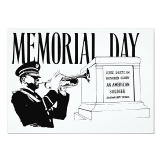 """Tumba del Memorial Day del desconocido Invitación 5"""" X 7"""""""
