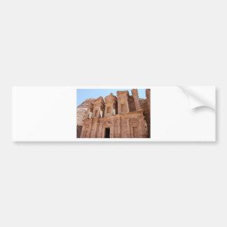 Tumba del palacio del Petra Jordania Etiqueta De Parachoque