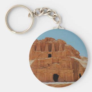 Tumba del Petra de los obeliscos Llavero Redondo Tipo Pin