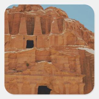 Tumba del Petra de los obeliscos Pegatina Cuadrada