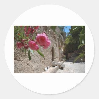 Tumba Jeruselum Isreal del jardín Pegatina Redonda