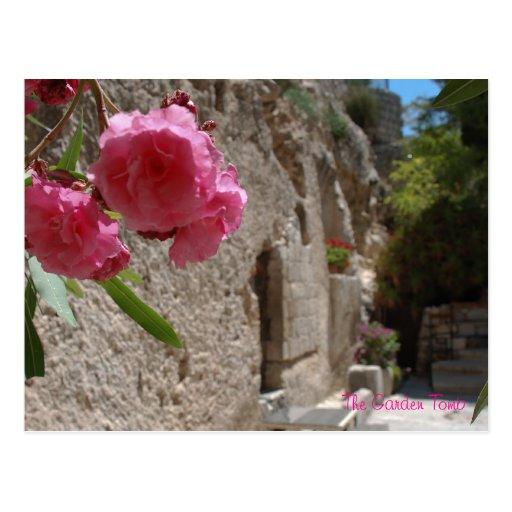 Tumba Jeruselum Isreal del jardín Tarjeta Postal
