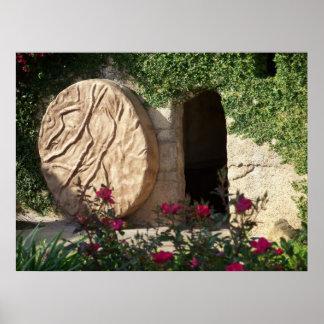 Tumba vacía de Pascua de la foto del poster del Je