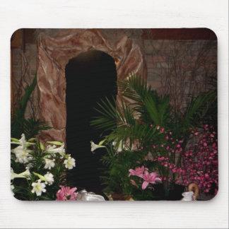 Tumba vacía de Pascua Tapetes De Raton