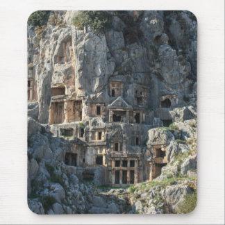 Tumbas antiguas de Lycian en Myra, cojín de ratón Alfombrillas De Raton