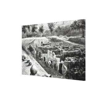 Tumbas de Etruscan Impresion De Lienzo
