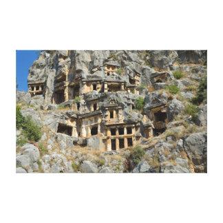 Tumbas de la roca de Lycian en Myra Lona Estirada Galerías