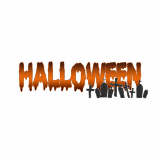 Tumbas de las letras de Halloween Fotoescultura Vertical
