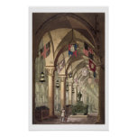 Tumbas de los caballeros Templar, c.1820-39 (acuat Posters