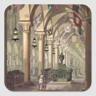 Tumbas de los caballeros Templar, c.1820-39 Pegatina Cuadrada