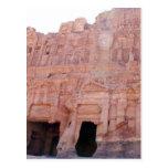 Tumbas del palacio del Petra Jordania Postales