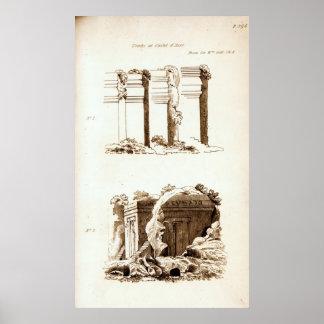 Tumbas en el d'Asso de Castel Póster
