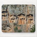Tumbas Mousepad de la roca de Lycian Tapete De Ratones