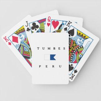 Tumbes Peru Alpha Dive Flag Card Deck