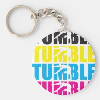 Tumble Basic Round Button Keychain