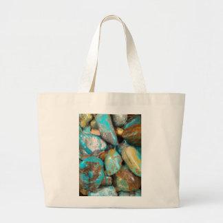 Tumble Finished Turquoise Tote Bag