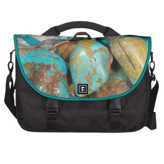 Tumble Finished Turquoise Laptop Commuter Bag